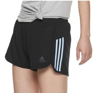 🆕NWT Adidas Climalite black white 3 stripe shorts